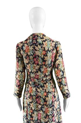 Selfridges 1970s Floral Tapestry Boho Coat