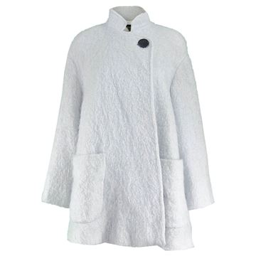 Guy Laroche 1980s Mohair Wool Swing Coat
