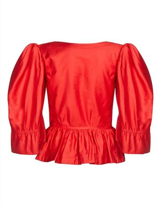 yves-saint-laurent-1970s-red-cotton-bell-sleeve-blouse-with-puff-shoulder-detail-uk-size-8-10