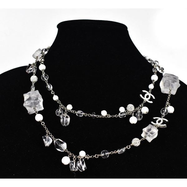 Chanel Ice Cube Pearl Necklace -2010