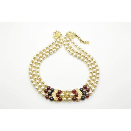 Picture of Lanvin Three Strand Vintage Pearl Choker