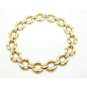 Picture of Ciner Collectors Piece Vintage Gold Crystal Necklace
