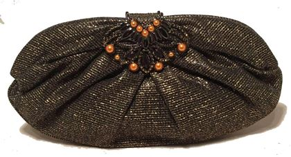 judith-leiber-black-and-gold-woven-pearl-embellished-clutch