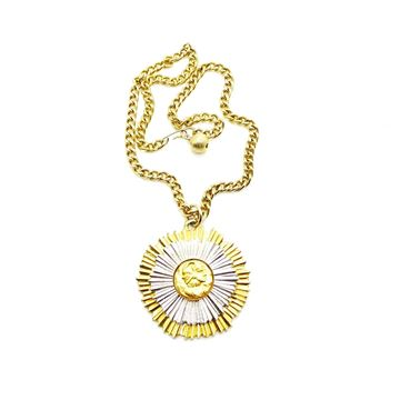 Picture of KENNETH JAY LANE VINTAGE GOLD SILVER PENDANT 1960s