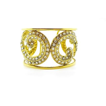 Picture of Nina Ricci Vintage Haute Couture Gold Crystal Cuff
