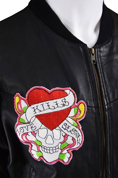 Avirex 1990s Embroidered Vintage Leather Jacket
