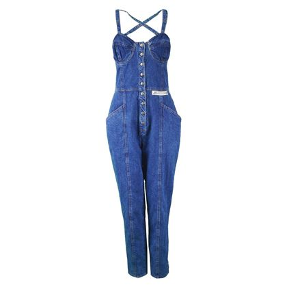Krizia Jeans 1990s Cross Back Vintage Jumpsuit