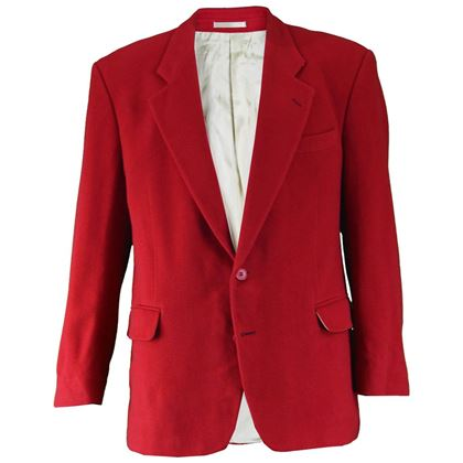 Yves Saint Laurent 1980s Men's Red Cashmere Vintage Blazer