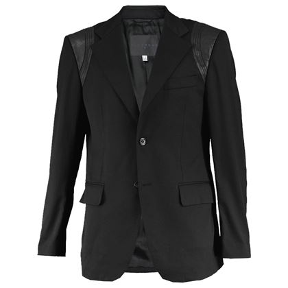 John Richmond Men's Leather Panelled Blazer Jacket