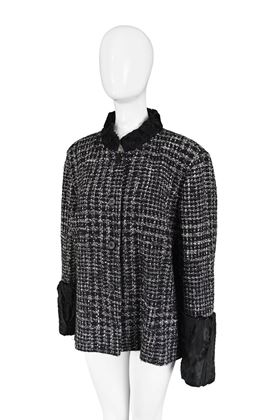 Gianfranco Ferre 1990s Persian Lamb Trim Vintage Jacket