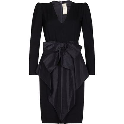 nina-ricci-1980s-black-wool-and-silk-cocktail-dress-with-front-bow-detail-uk-size-8-10