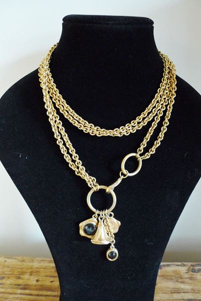 FENDI VINTAGE GOLD CHAIN BELT  OR NECKLACE WITH CHARMS