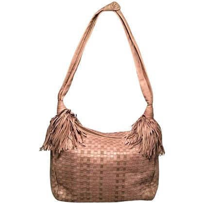 bottega-veneta-vintage-tan-woven-leather-fringe-trim-shoulder-bag
