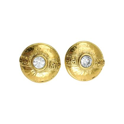 chanel-crystal-embellished-gold-plated-round-earrings-1986