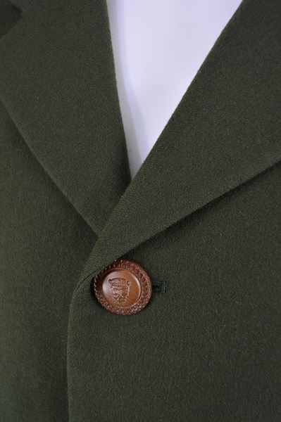 Istante by Gianni Versace 1990s Green Wool Blazer Jacket