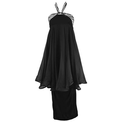 Angelo Tarlazzi 1980s Halter Neck Evening Dress