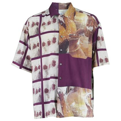 Paul Smith 1990s Fruit Print Men's Vintage Shirt