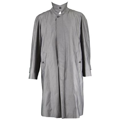 Burberry 1980s Sharkskin Vintage Trench Coat