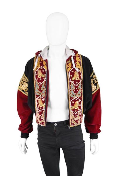 Vintage 1980s Embroidered Dragon Bomber Jacket