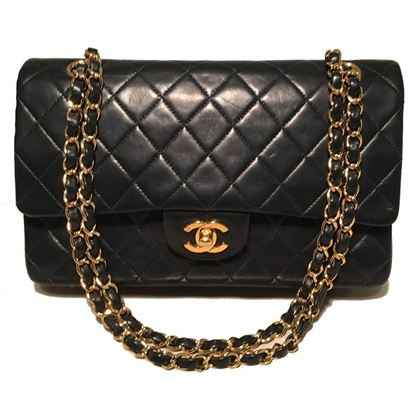 chanel-black-10inch-255-double-flap-classic-shoulder-bag-2