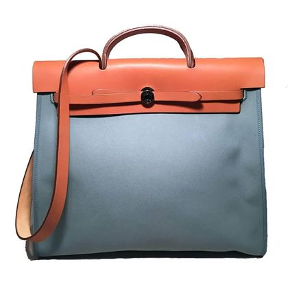 hermes-blue-canvas-toile-herbag-tote