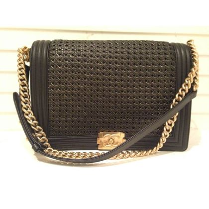 chanel-limited-edition-gm-black-and-golden-boy-bag