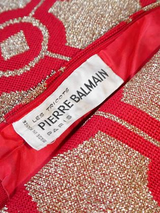 PIERRE BALMAIN 1960s Vintage Maxi Evening Dress Size S