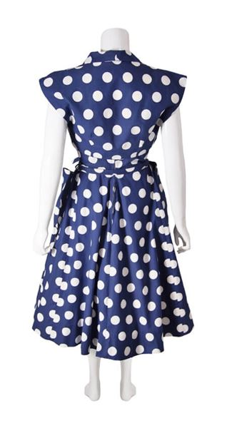 1950s-navy-blue-and-white-polka-dot-vintage-prom-dress-with-matching-bolero-jacket