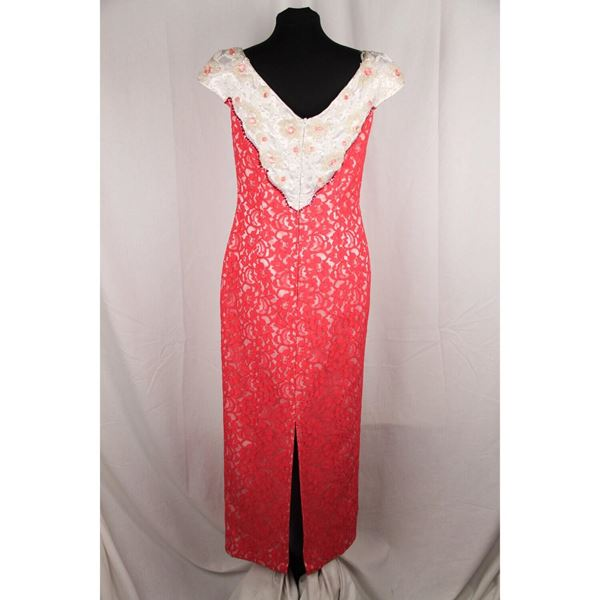 luna-di-miele-vintage-hot-pink-lace-evening-dress-with-beading