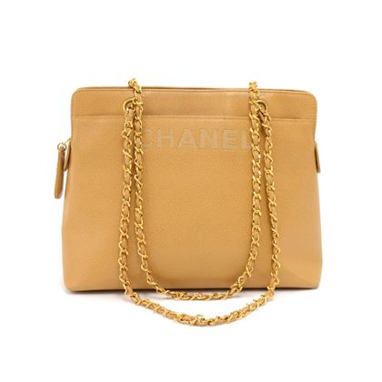 chanel-beige-caviar-leather-medium-shoulder-chain-bag