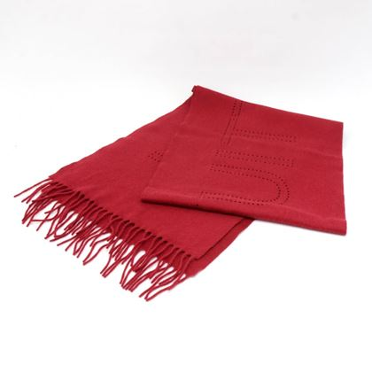 louis-vuitton-red-perforated-cashmere-scarf