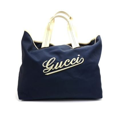 gucci-navy-nylon-large-logo-tote-bag