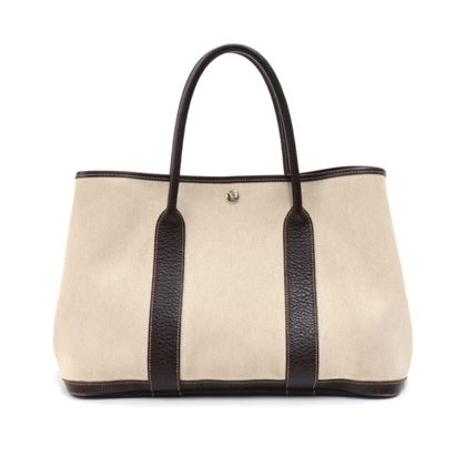 hermes-garden-party-pm-chocolate-brown-leather-beige-canvas-hand-bag-4