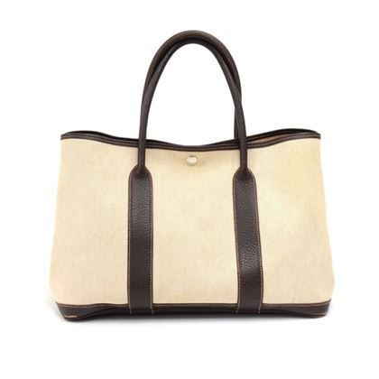 hermes-garden-party-pm-chocolate-brown-leather-beige-canvas-hand-bag-6