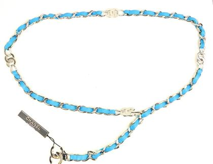 chanel-turquoise-lambskin-leather-cc-silver-chain-belt