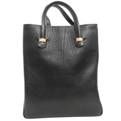 hermes-black-calf-leather-tote-bag