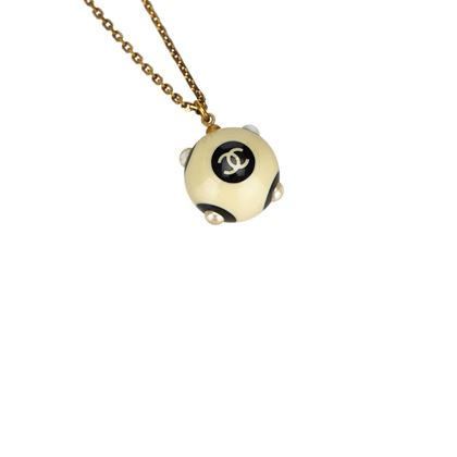 chanel-ivory-x-black-with-faux-pearl-studs-ball-pendant-necklace