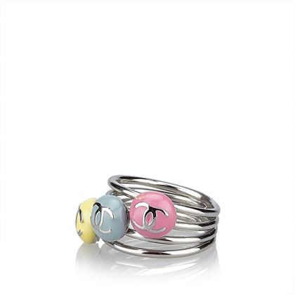 chanel-multi-colours-cc-silver-ring