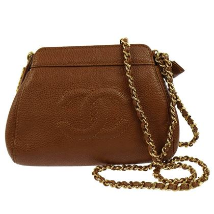 chanel-brown-caviar-leather-with-gold-chain-strap-shoulder-bag