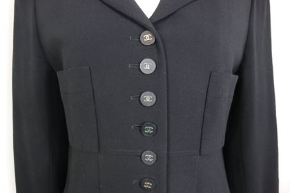 chanel-classic-black-wool-silver-cc-buttons-jacket
