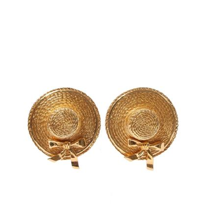 chanel-gold-vintage-hat-earrings