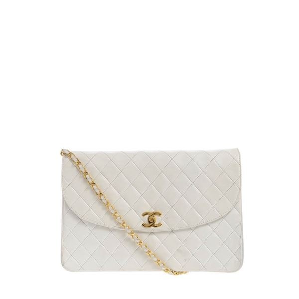 77f0de5f30c8 chanel-white-quilted-lambskin-flap-shoulder-bag