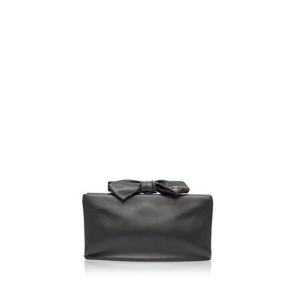 chanel-black-leather-bow-clutch