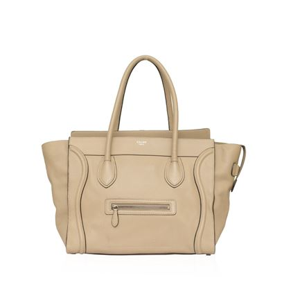 celine-beige-mini-luggage-tote-bag