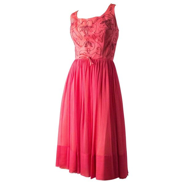 50s-pink-satin-embroidered-bodice-cocktail-dress-2