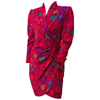 80s-ungaro-magenta-print-dress-2
