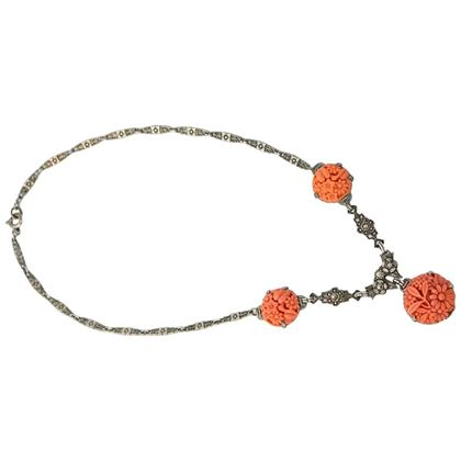 1930s-orange-and-silver-necklace-2