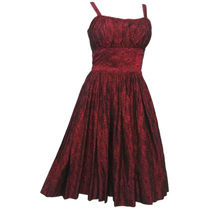 red-iridescent-party-dress-1950s-2