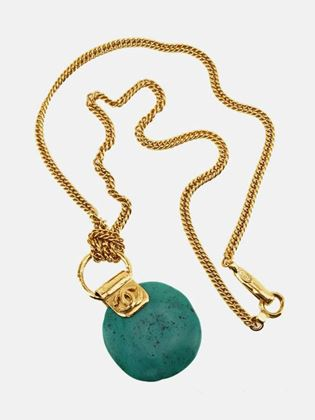 chanel-turquoise-stone-pendant-gold-toned-chain-necklace-2