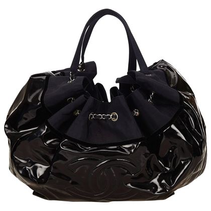 chanel-black-patent-and-navy-nylon-stretch-spirit-cabas-tote-bag-2
